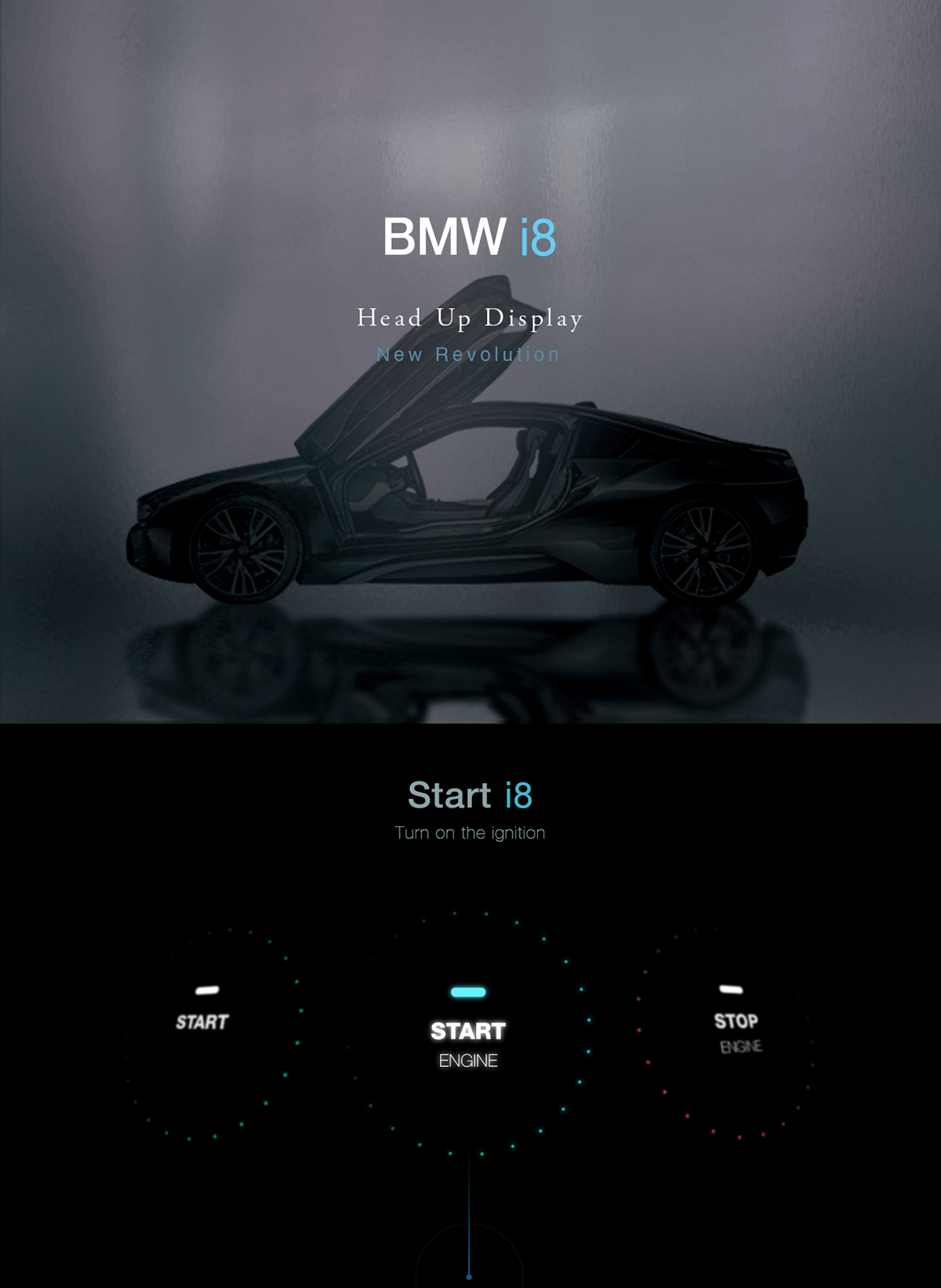 Bmw I8 Hud On Behance