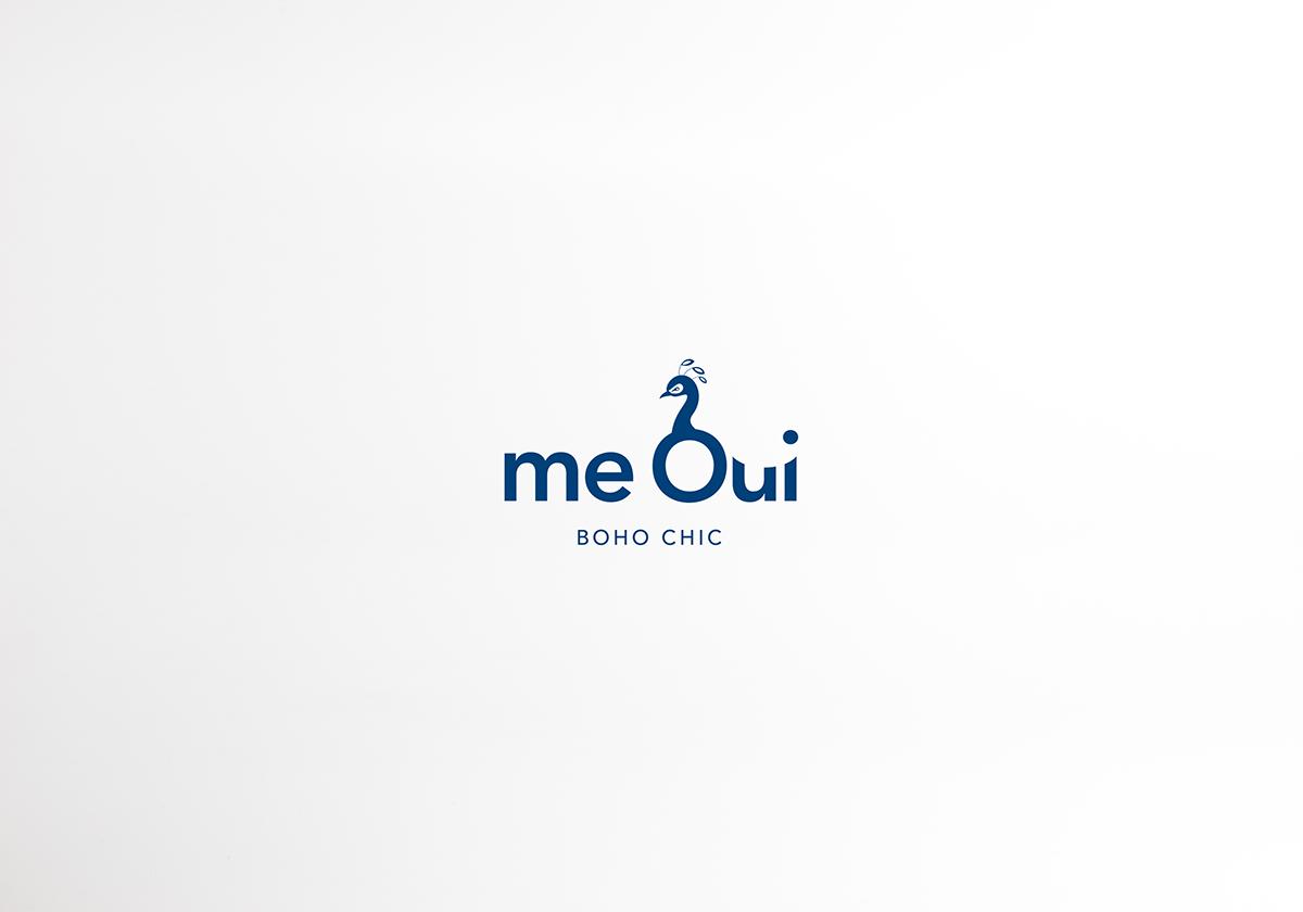 branding  brand Logotype logo concept peacock beauty shop murcia boho chic