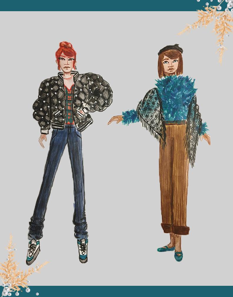 Image may contain: cartoon, drawing and clothing