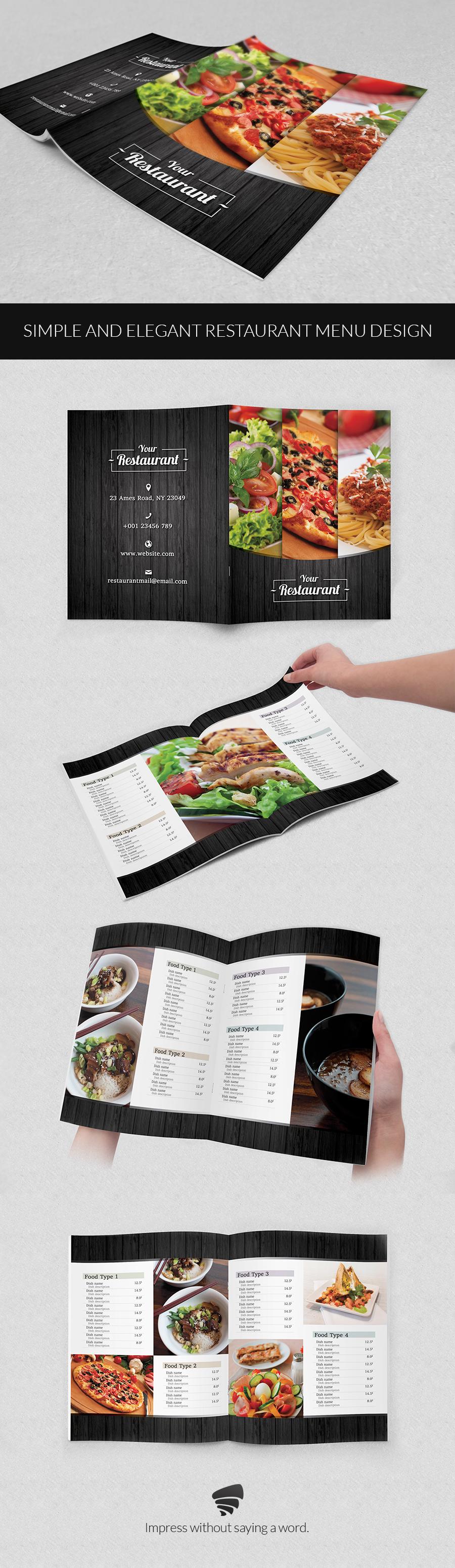 Elegant Restaurant Menu Design On Behance