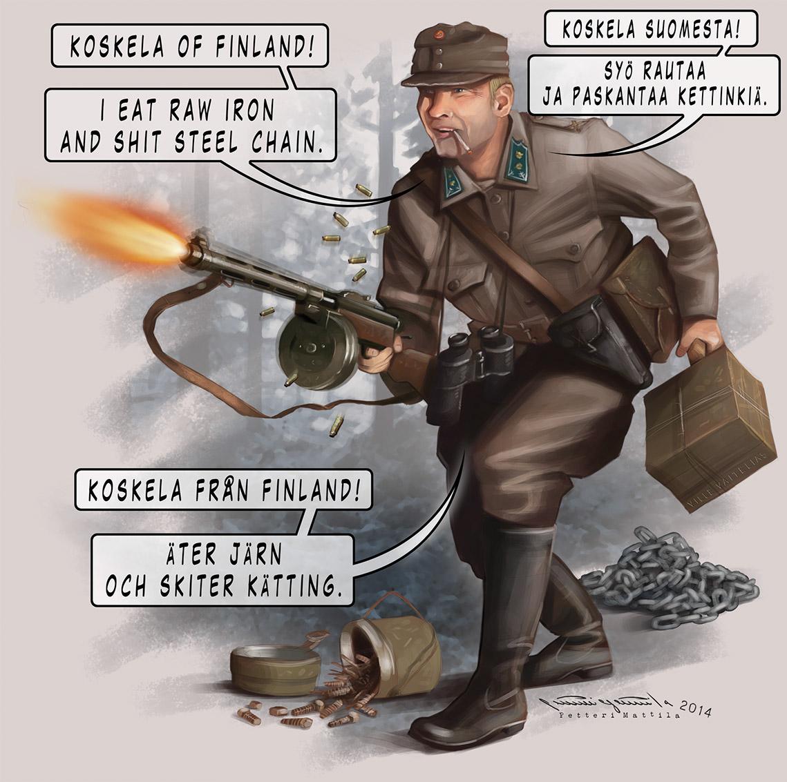 WWII Finnish soldier Lieutenant Koskela on Behance