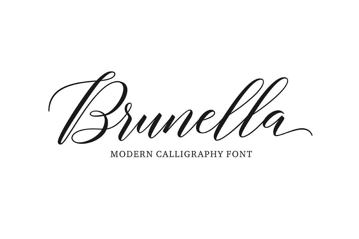 Brunella script on behance