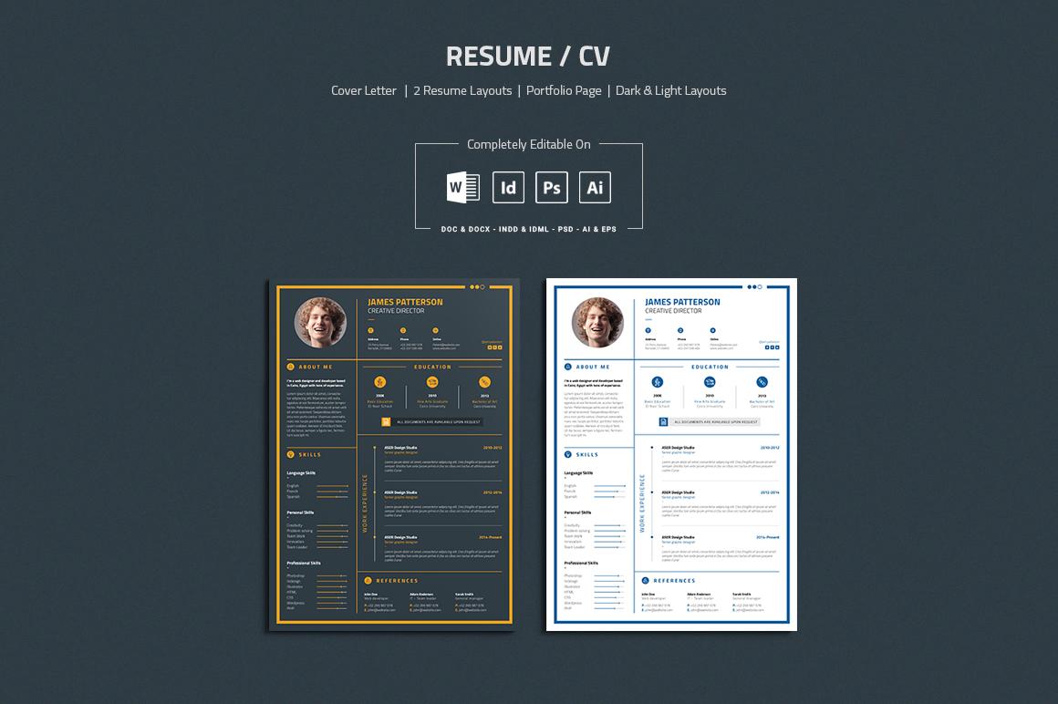 Resume Cover Letter Portfolio Page On Behance