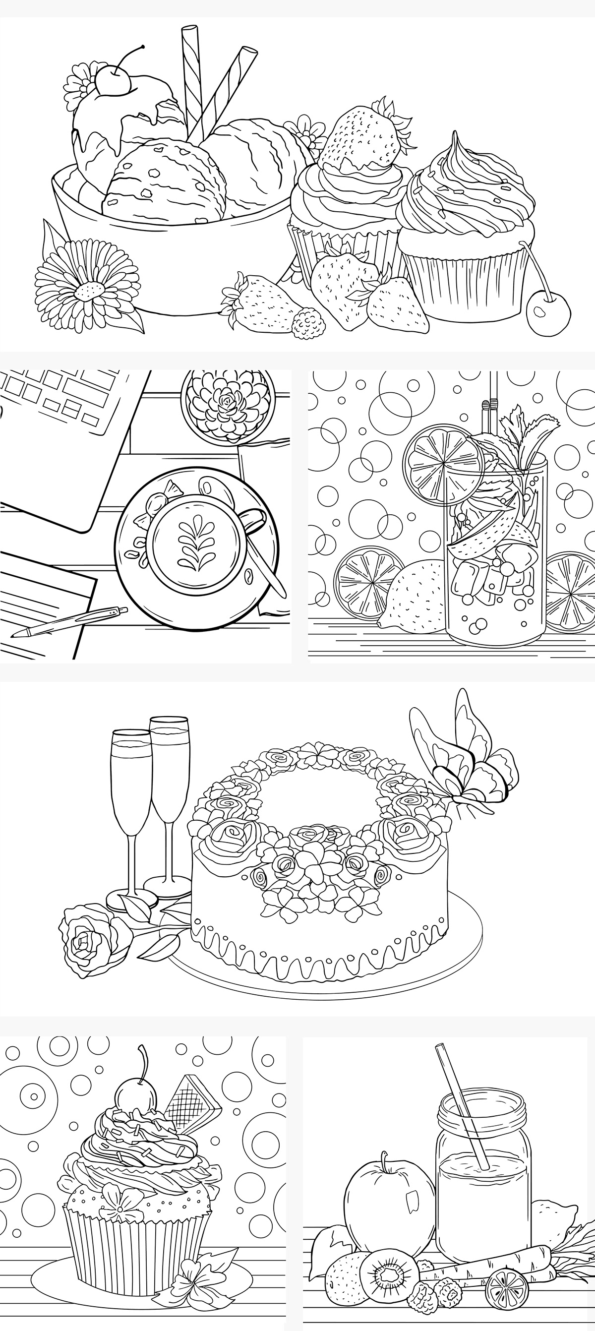 - Coloring Pages - Food On Student Show