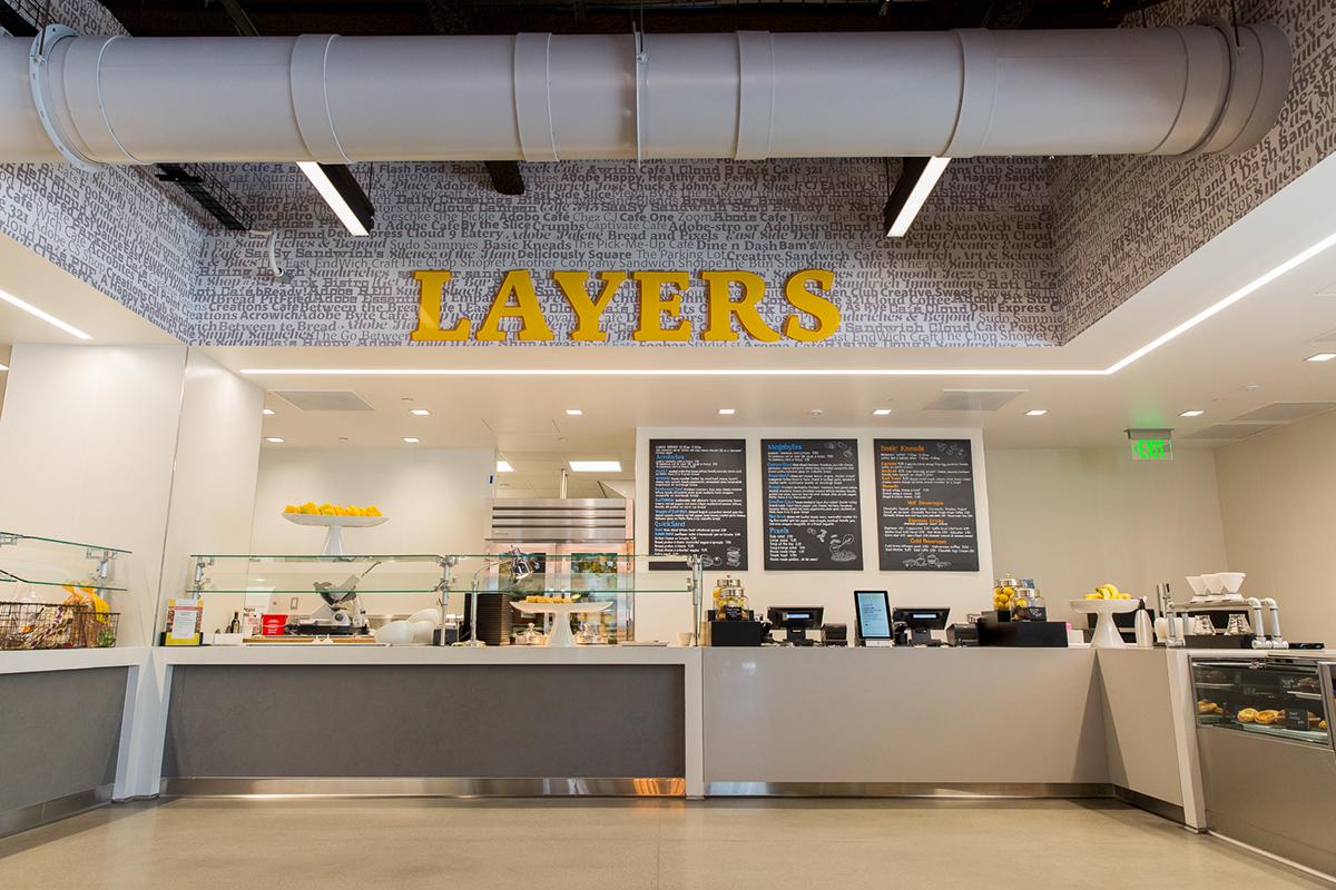 adobe workplace san jose cafe layers branding on behance