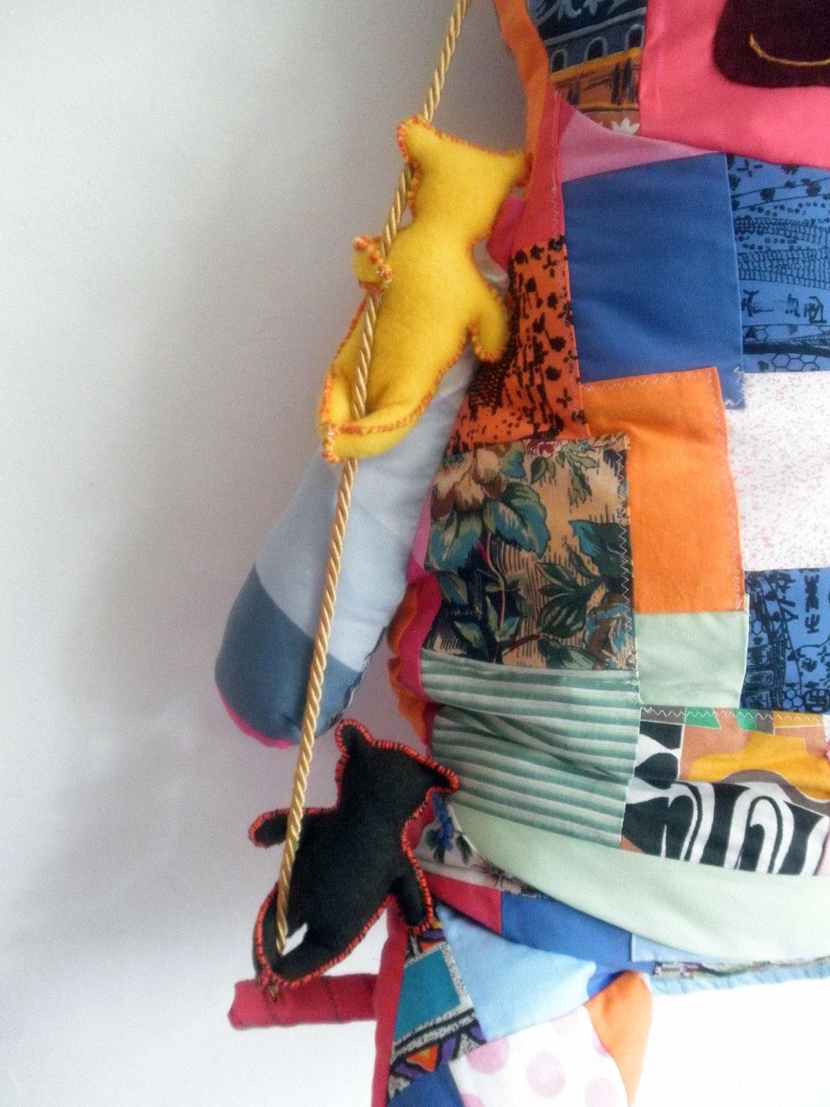 Pillow Design toy pillow textile patchwork handmade bear toy