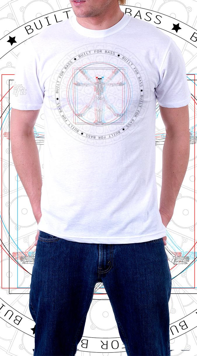 bass tshirt Clothing skeleton club edm Musical
