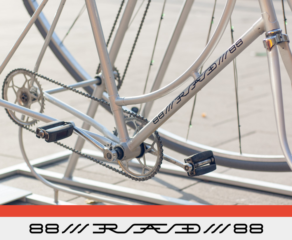 logo sign Bicycle Bike chemistry element frame stencil lettering font rad POLON   art instalation Bicycle frame