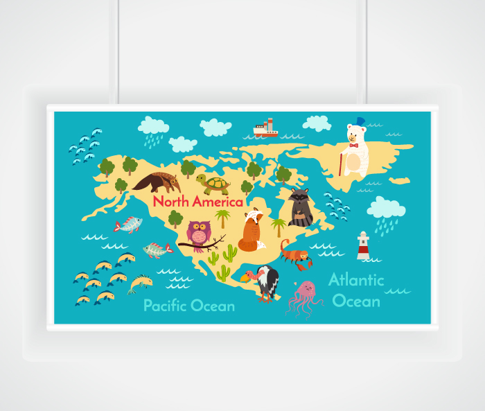 Animals world map on behance rupic 307824071stock vector animals world map vector illustration preschool baby continents oceans drawn earthml src660u40pmnwloukmuoljug 1 14 gumiabroncs Images