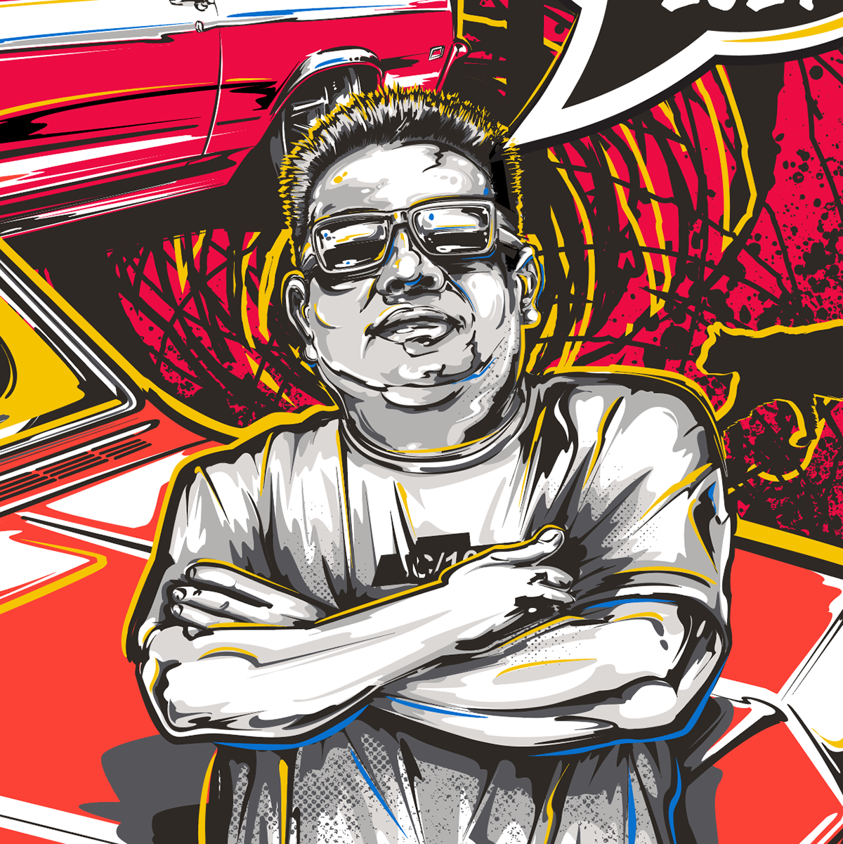 apparel graphic ILLUSTRATION  portrait poster Poster Design screenprint sketch t-shirt vector art Vector Illustration