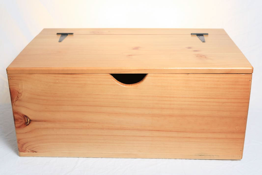 storage box wooden large flat top hinged lid on behance. Black Bedroom Furniture Sets. Home Design Ideas