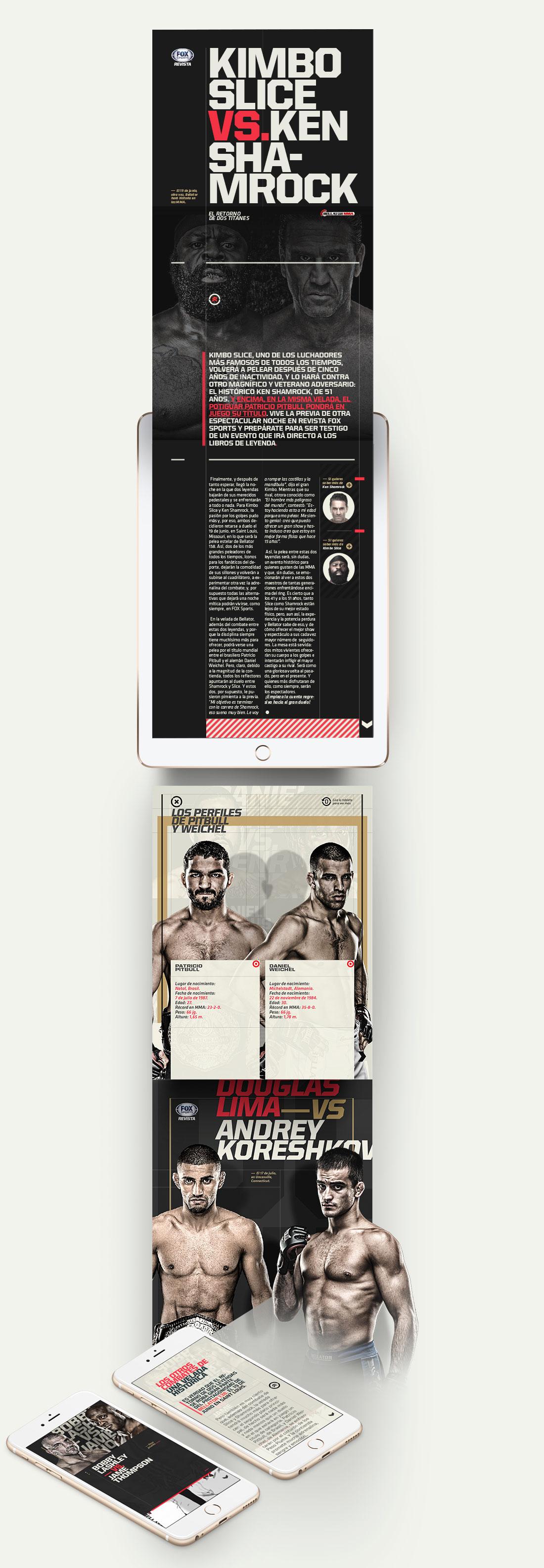 fox sports digital magazine on behance