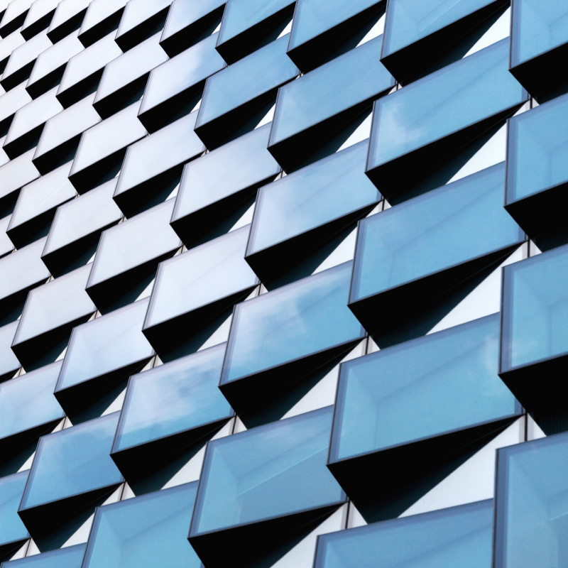 minimal buildings facade Fassade munich color