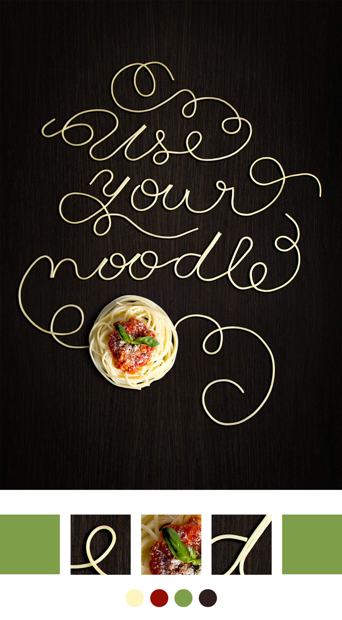 Food  poster Hungry life recipes Pizza Pasta noodles Cherries cake Typographic Treatment  Typeface Design lettering  illustrated typography food letters