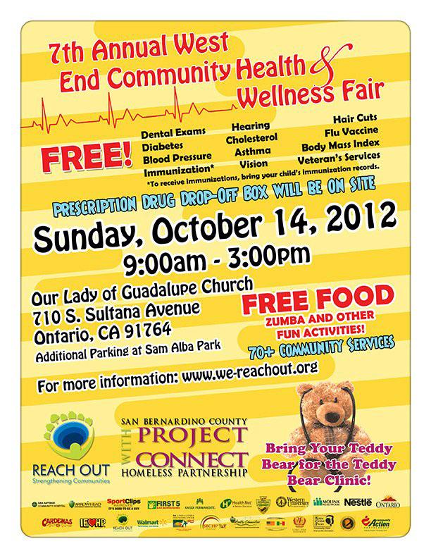 Reach Out west end Health Fair yellow Ontario California