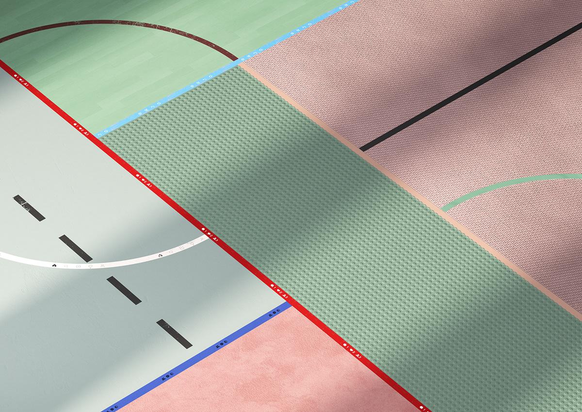 social workout design 3D sixnfive setdesign concept design colors graphic design  3d design
