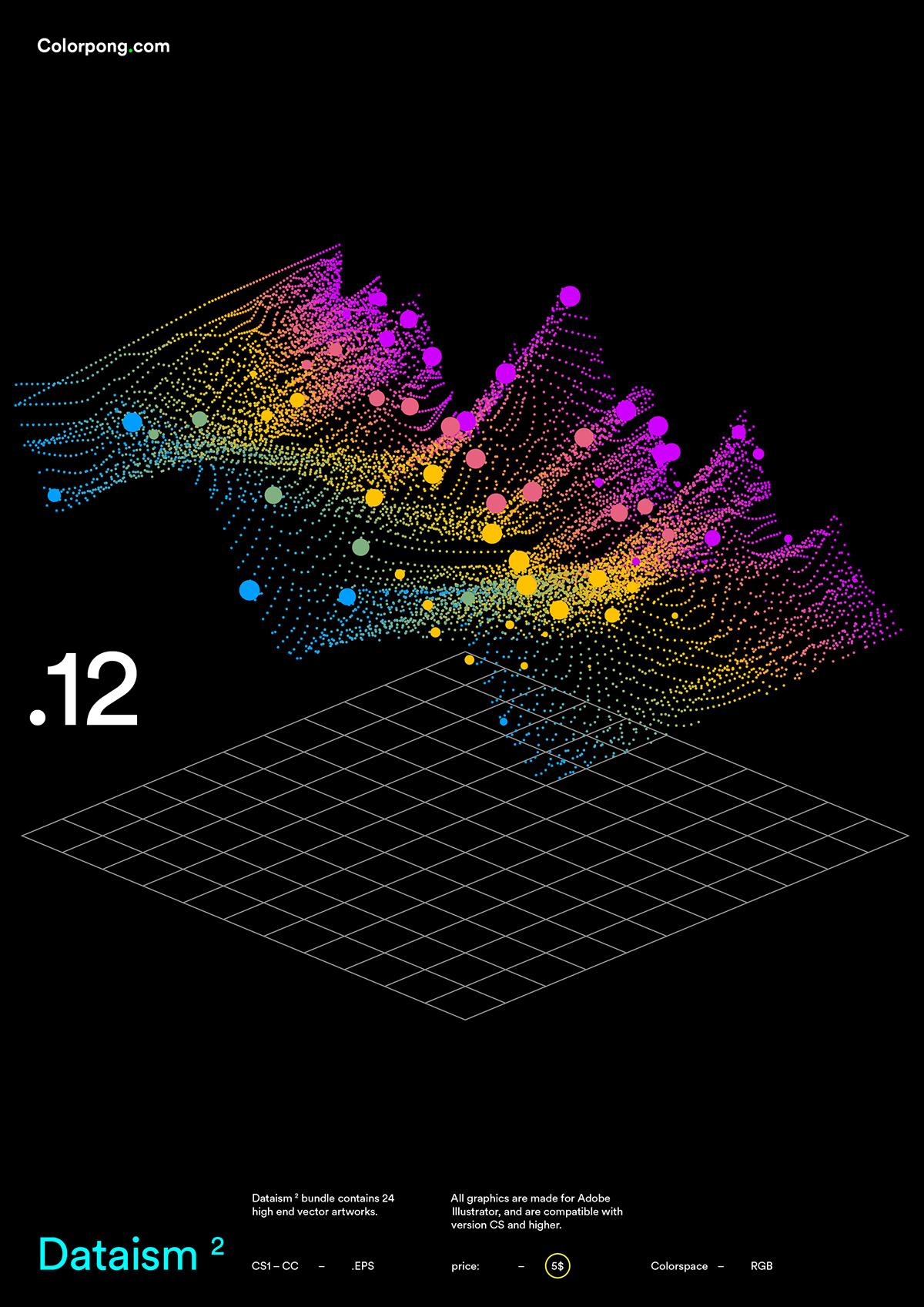Data infographic information datavis info graph processing progress process