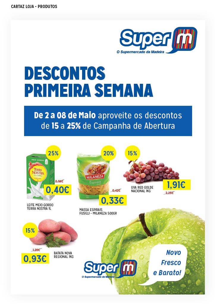 design folheto Supermarket