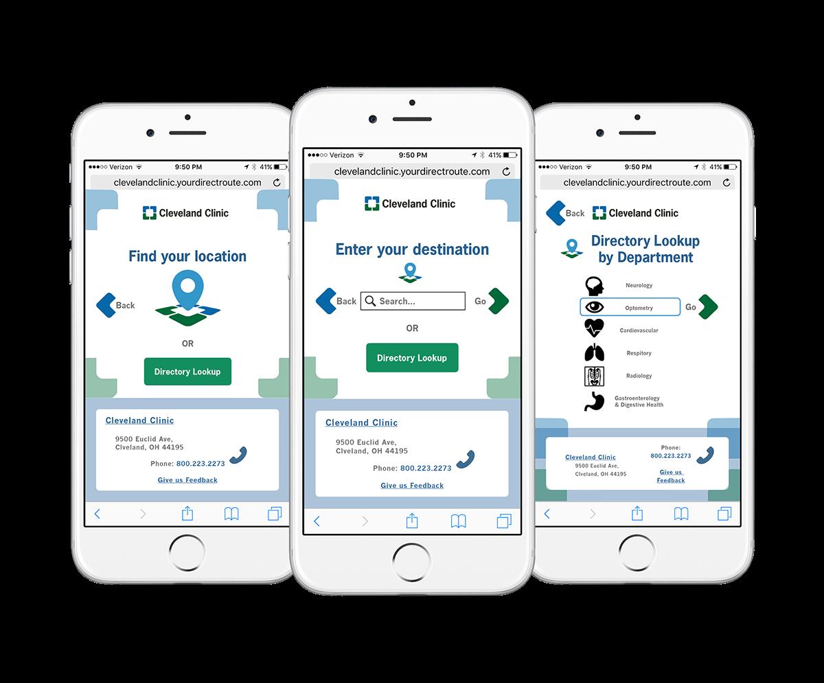Cleveland Clinic Wayfinding Web App (Redesigned) on Behance