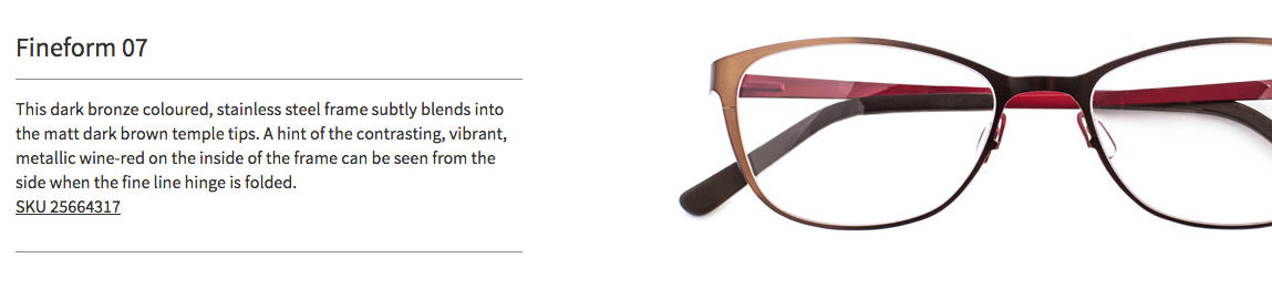 Product Descriptions Fineform Specsavers On Behance