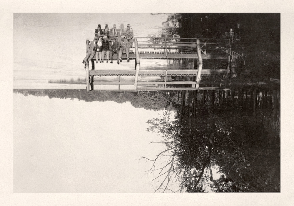 found photo reflection Memory loss death time antique vintage found photograph snapshots