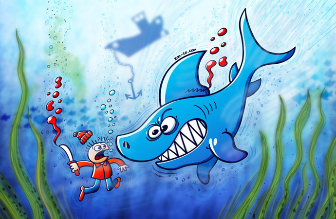 Sharks are furious, stop finning!