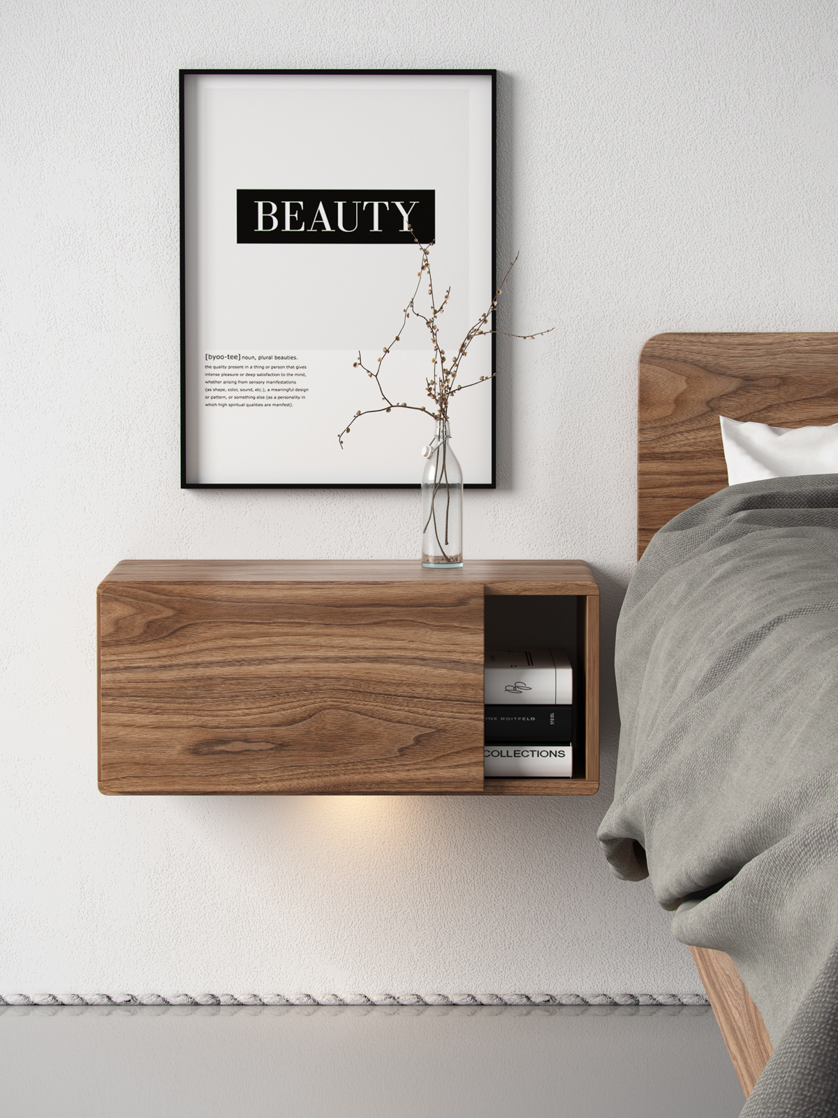Walnut Bedroom On Behance
