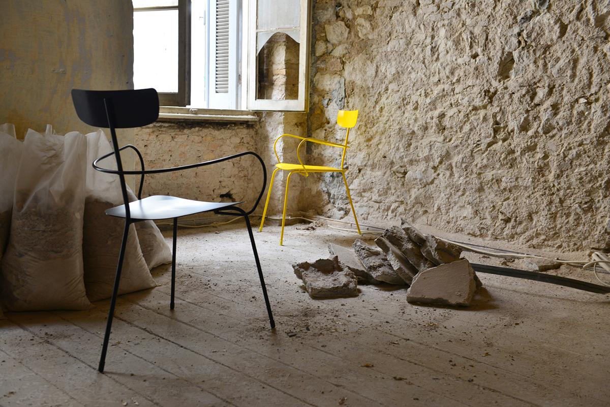 chair stool metal colors industrial award