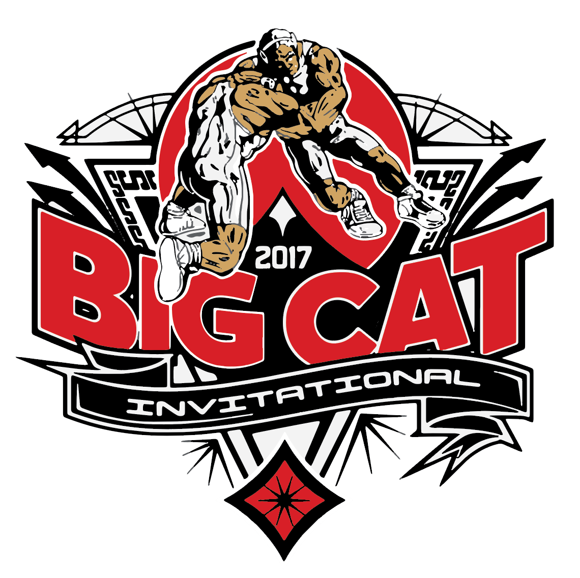 2017 Big Cat Wrestling Tournament Logo On Behance