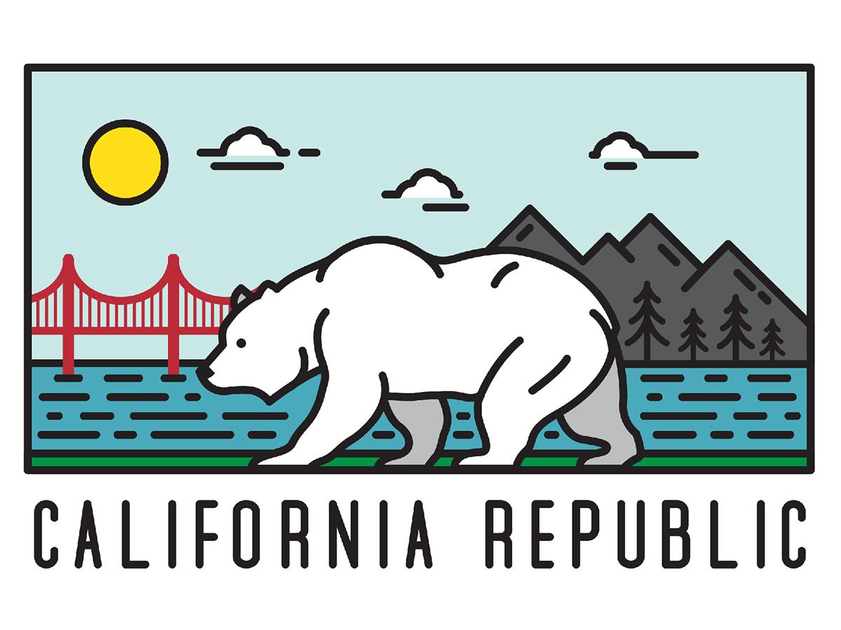 california bear on behance