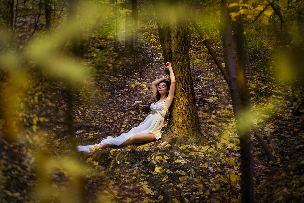 фотосессии в лесу со стула того также доступны