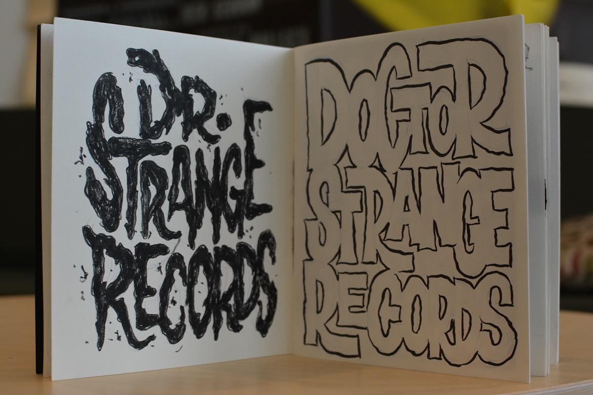 typography   ragnar dr strange records sketchbook