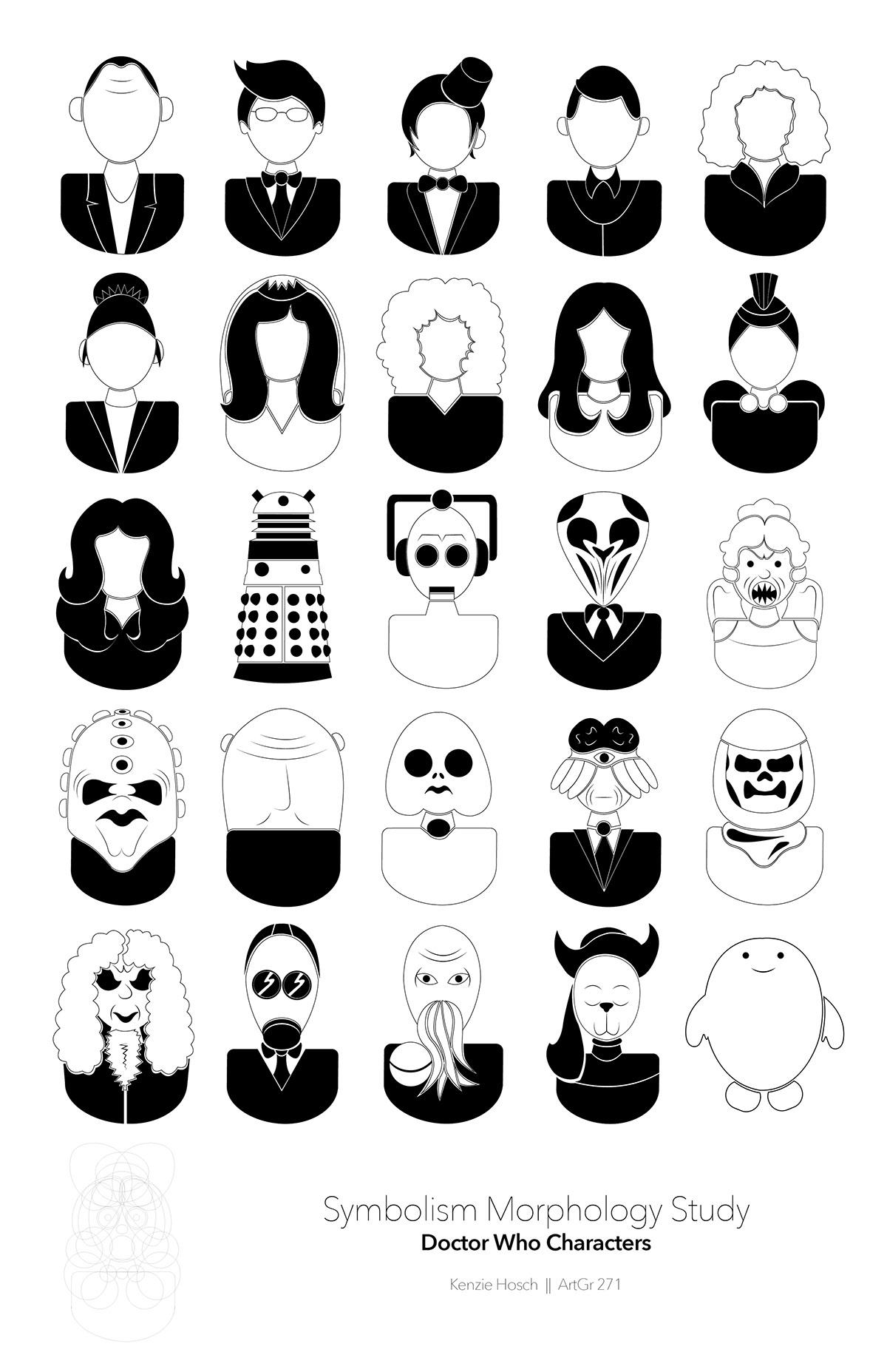 Doctor Who Symbol Set On Behance