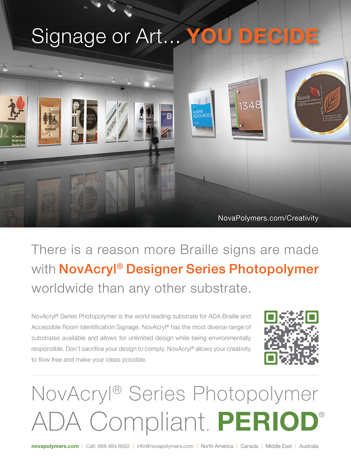 Sign company advertising design