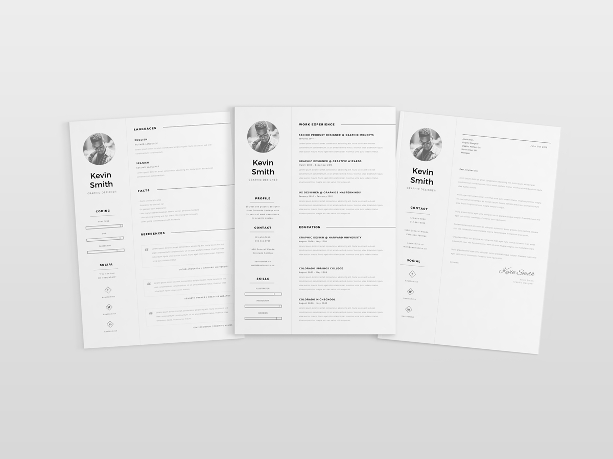 free clean  u0026 minimal resume template on behance