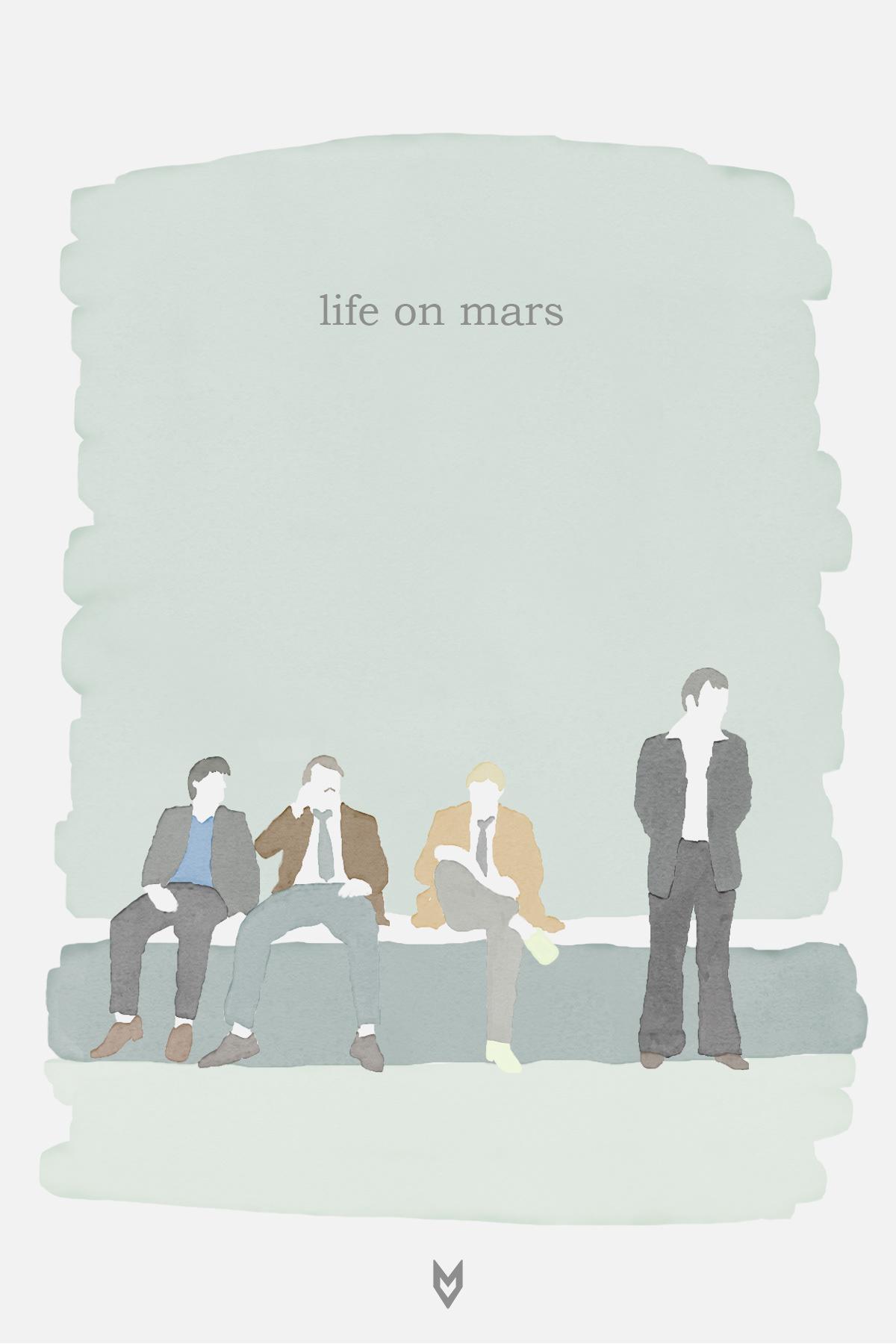 tv television Life on mars BBC ILLUSTRATION