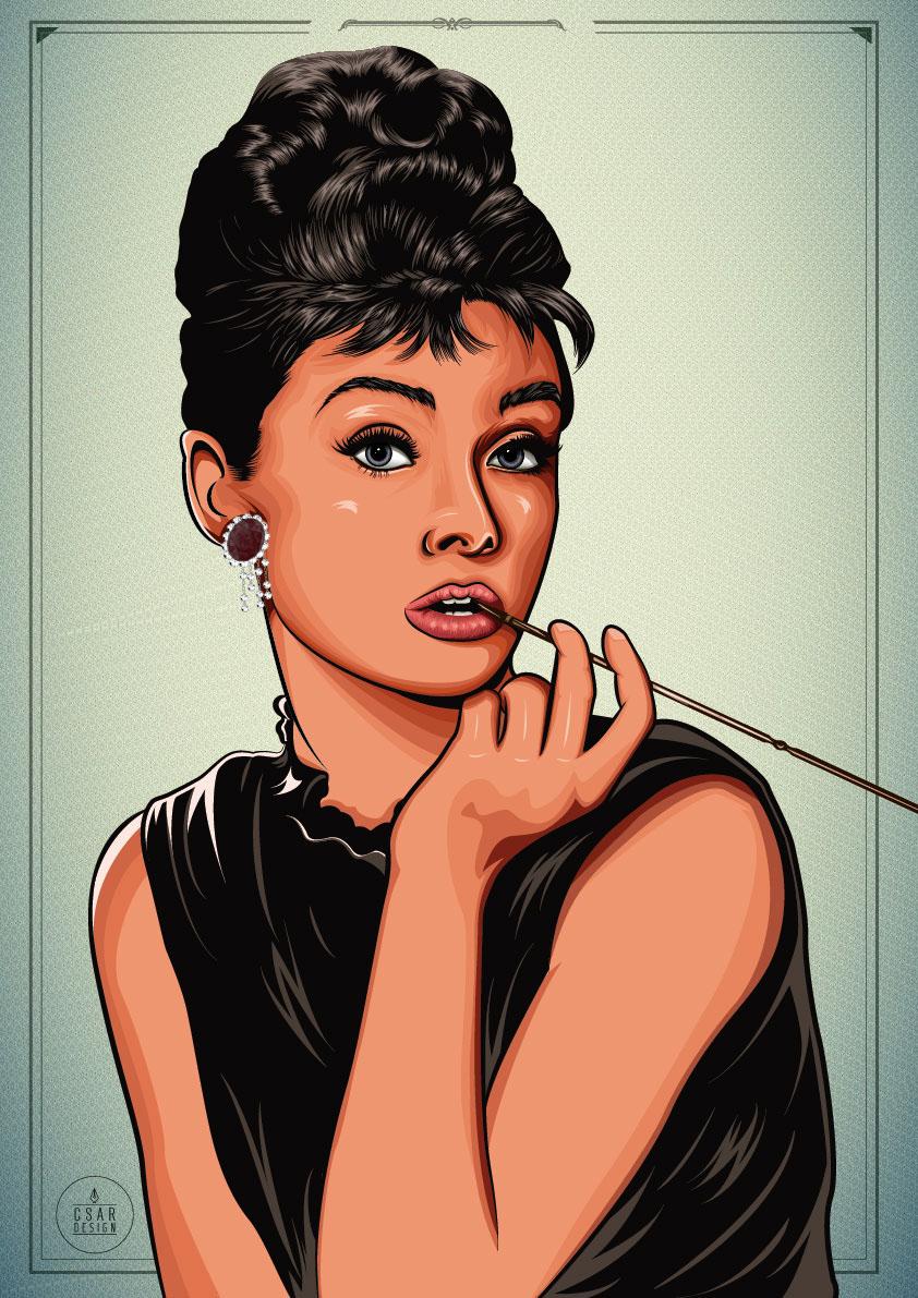 Audrey Hepburn On Behance