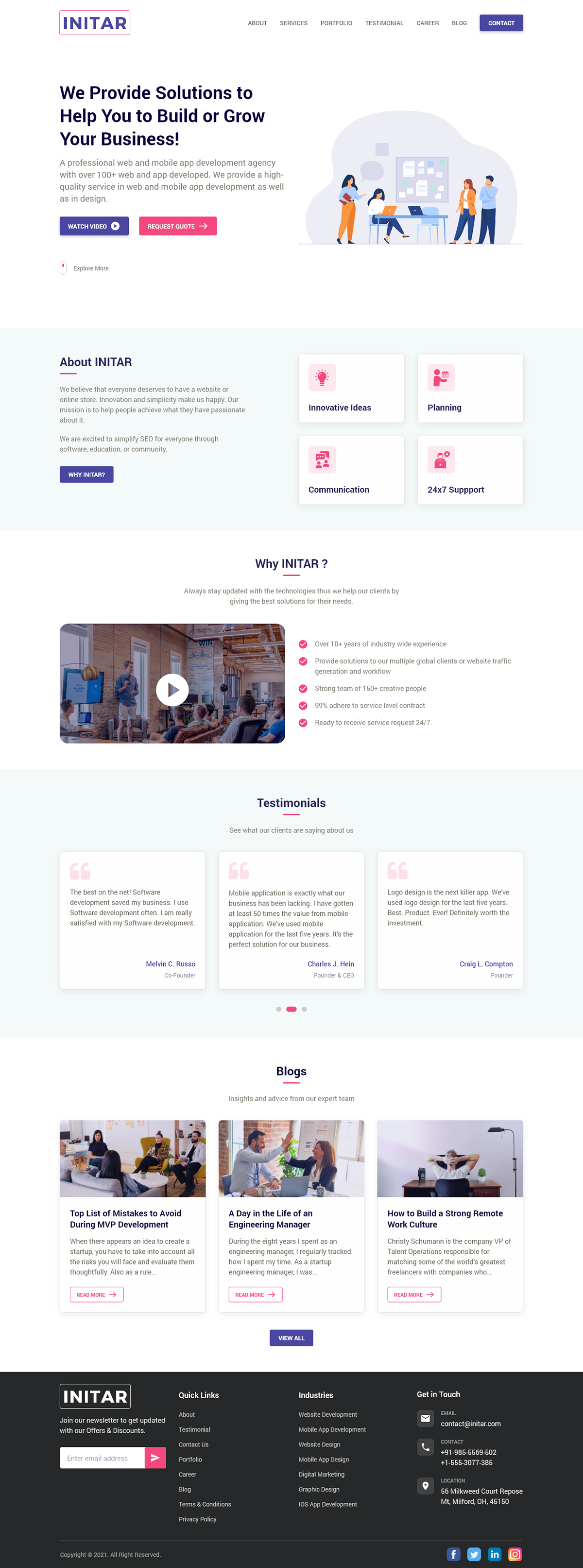 Agency website home page inspiration IT company IT Firm  landing page TRENDING ui ux website Agency
