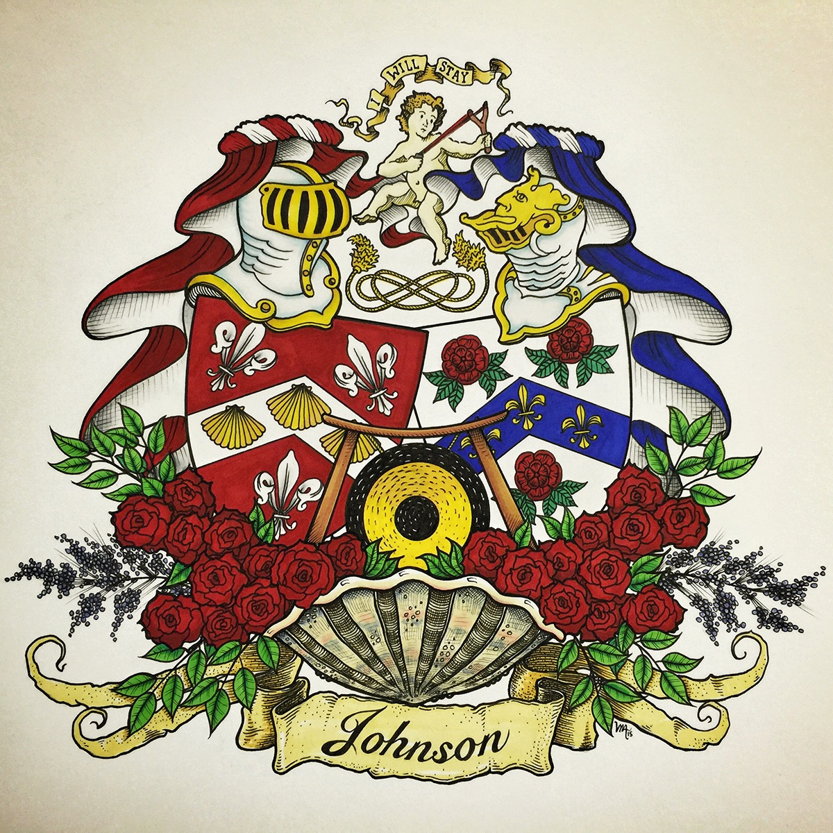 Johnson Conjugal Coat of Arms on Behance
