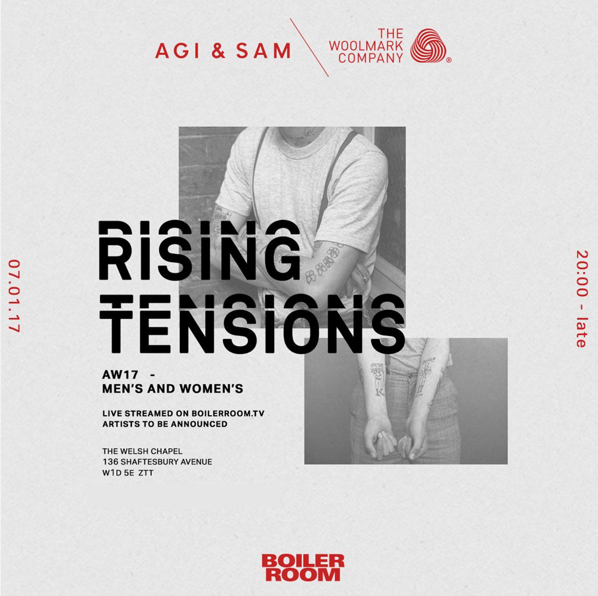 AGI & SAM x Boiler Room I LFW Invites on Behance