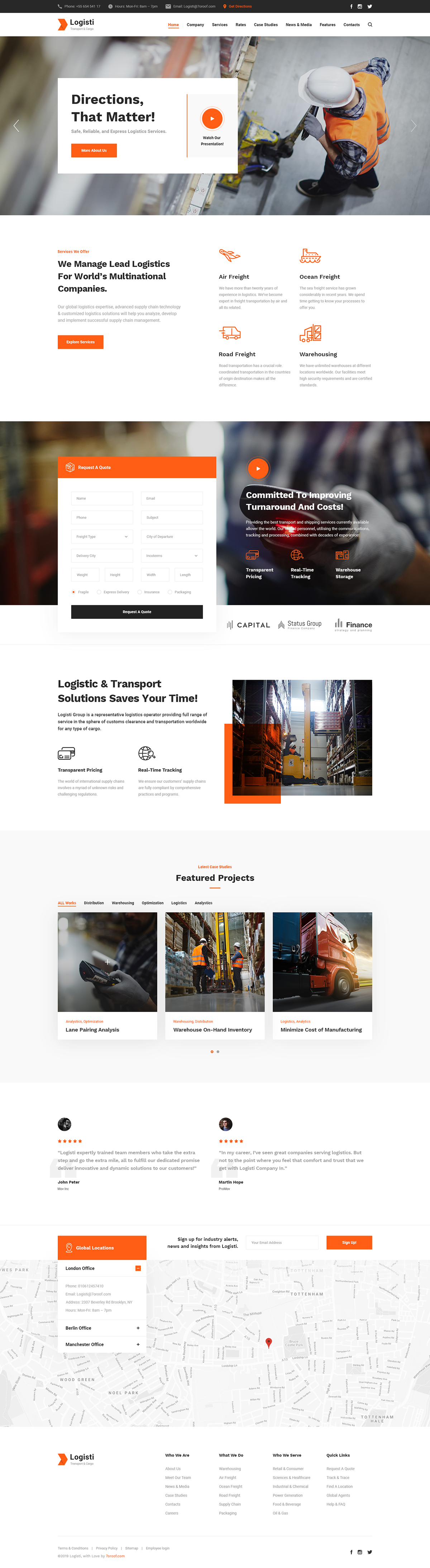Logisti - Logistics & Transport WordPress Theme