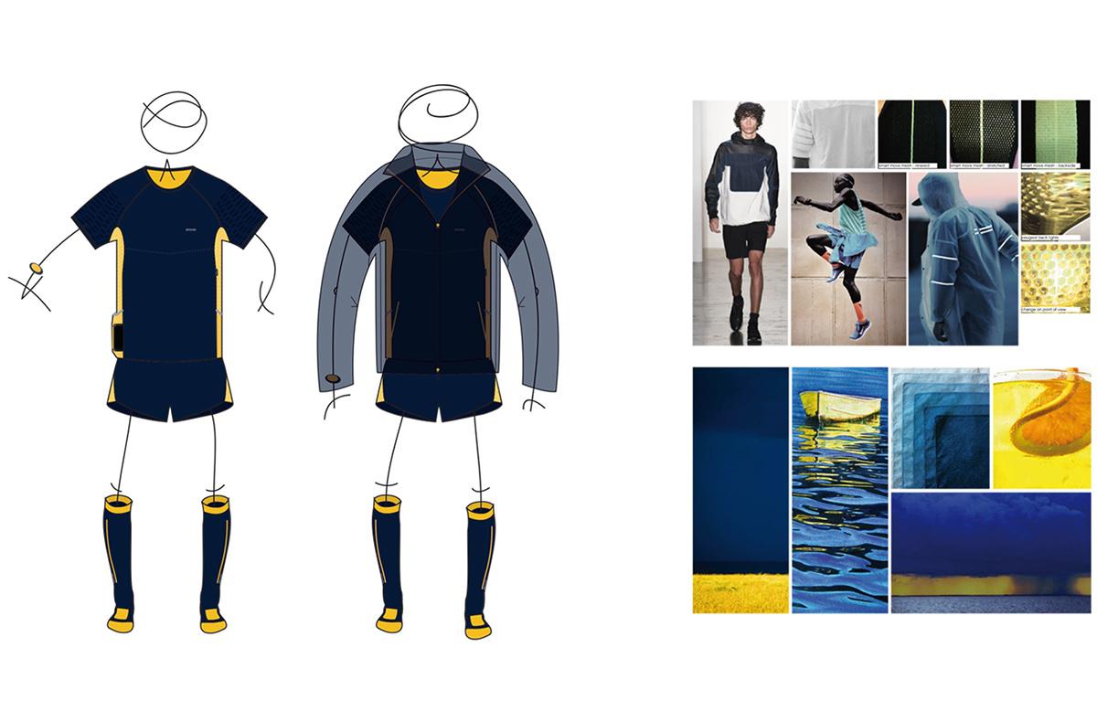 Sports apparel running performance textiles fabric Tech Pack