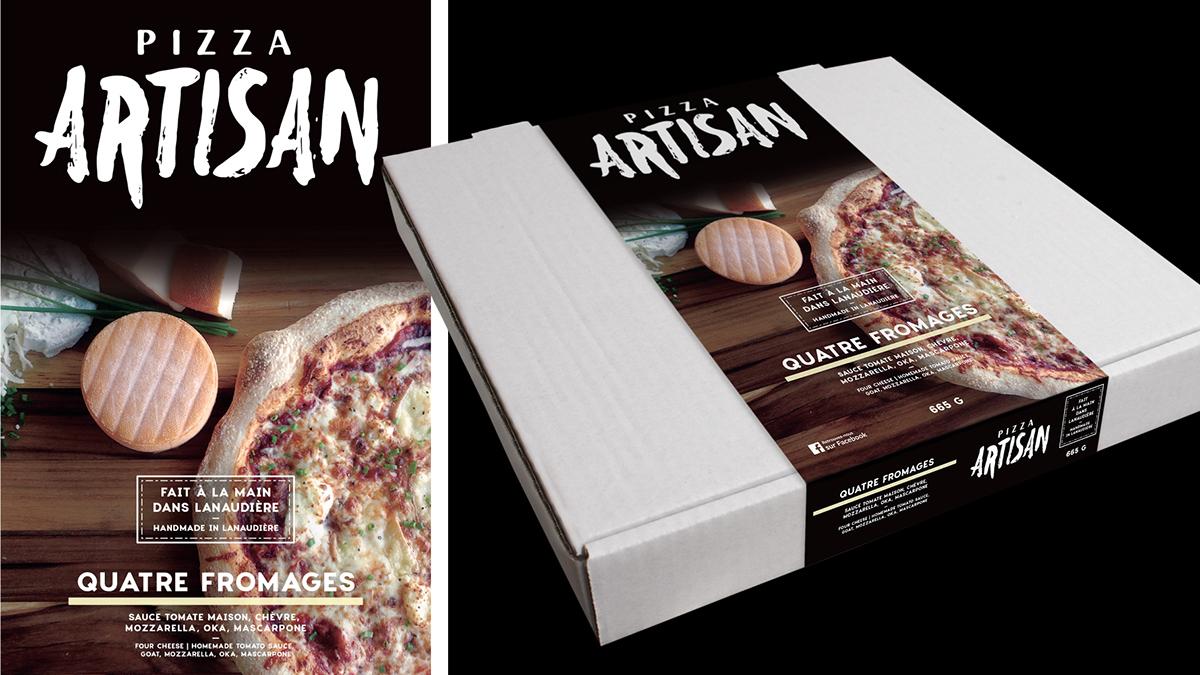 Pizza logo Montreal Freelance emballage