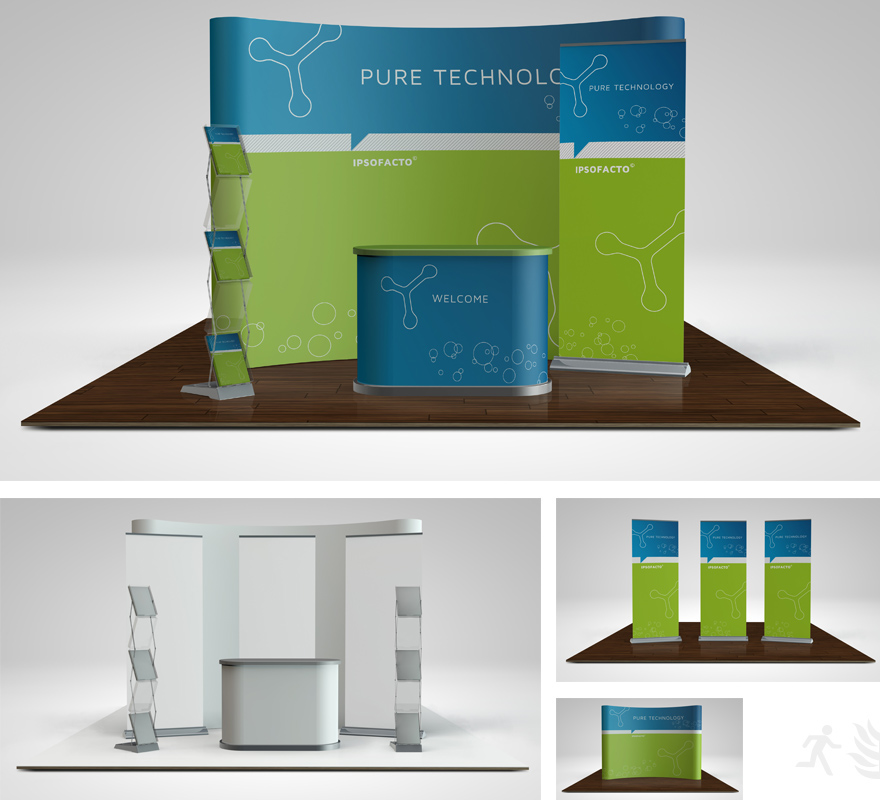 Exhibition Booth Vector Free Download : Trade show booth mock up on behance