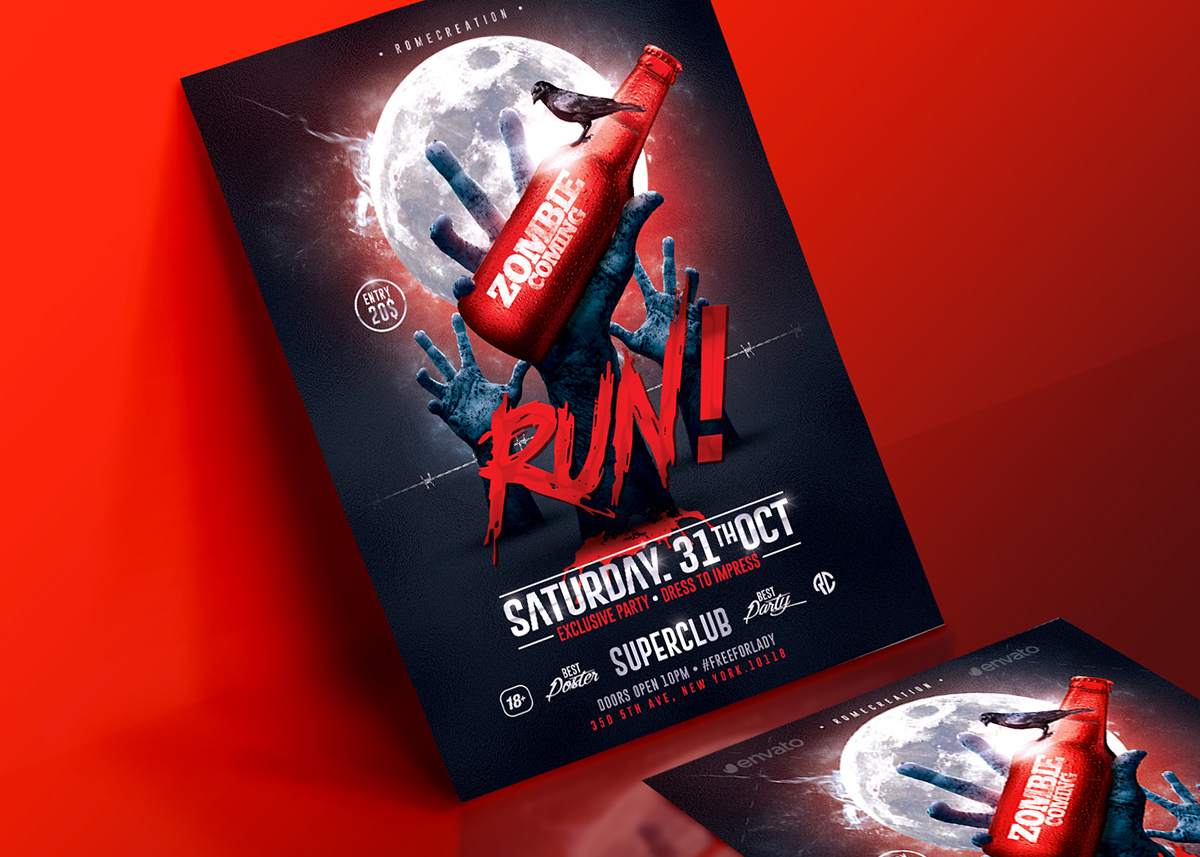 Halloween Party | Psd Flyer Template on Behance
