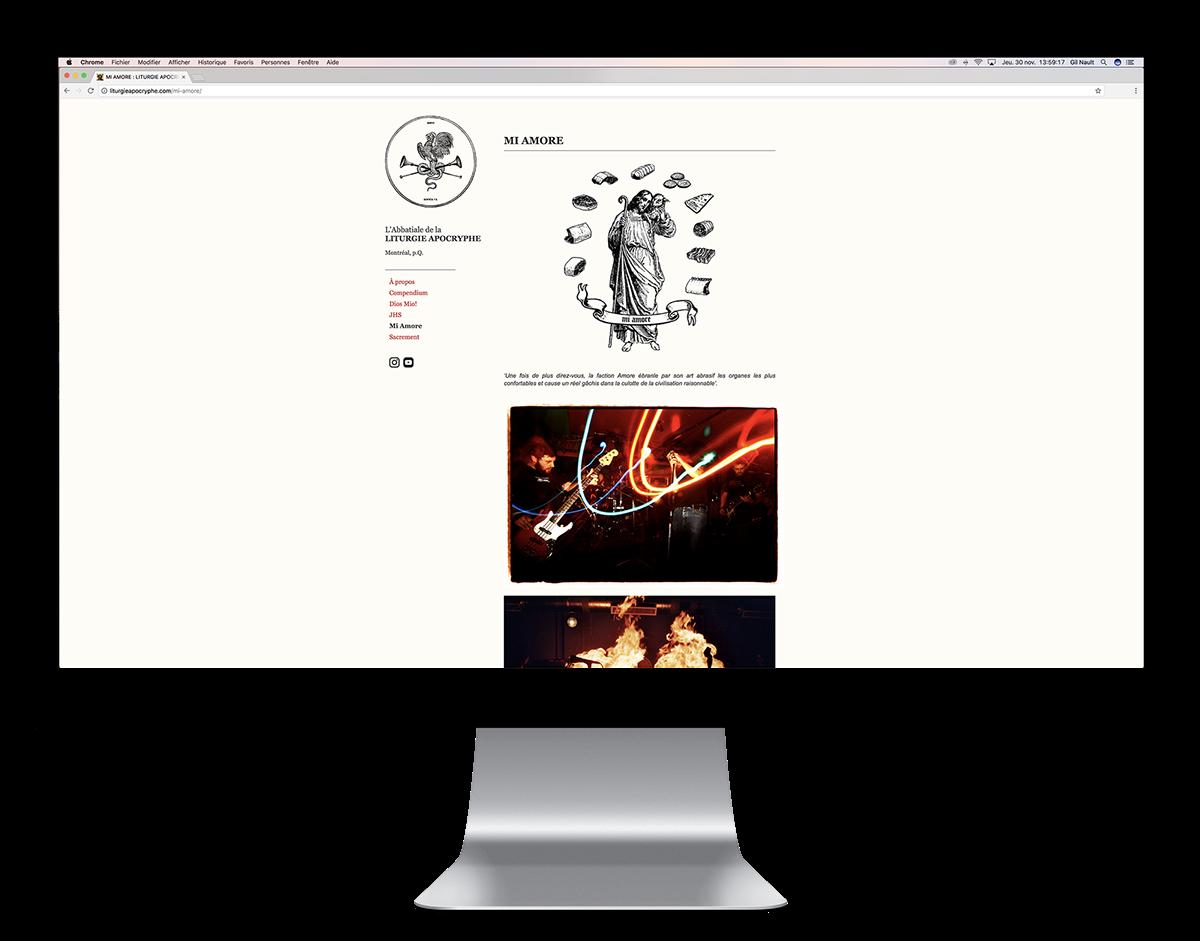 Blog wordpress portfolio Montreal Liturgie Apocryphe