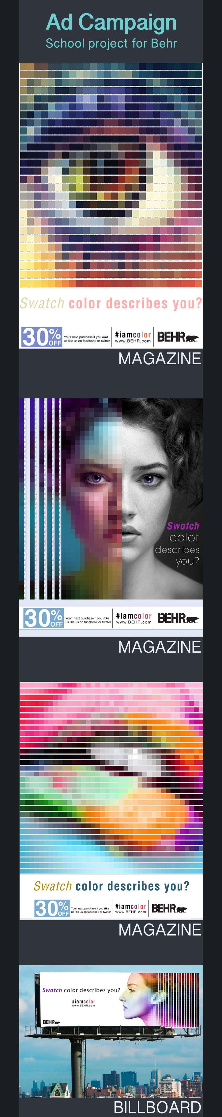 swatch color design magazine ad eye paint