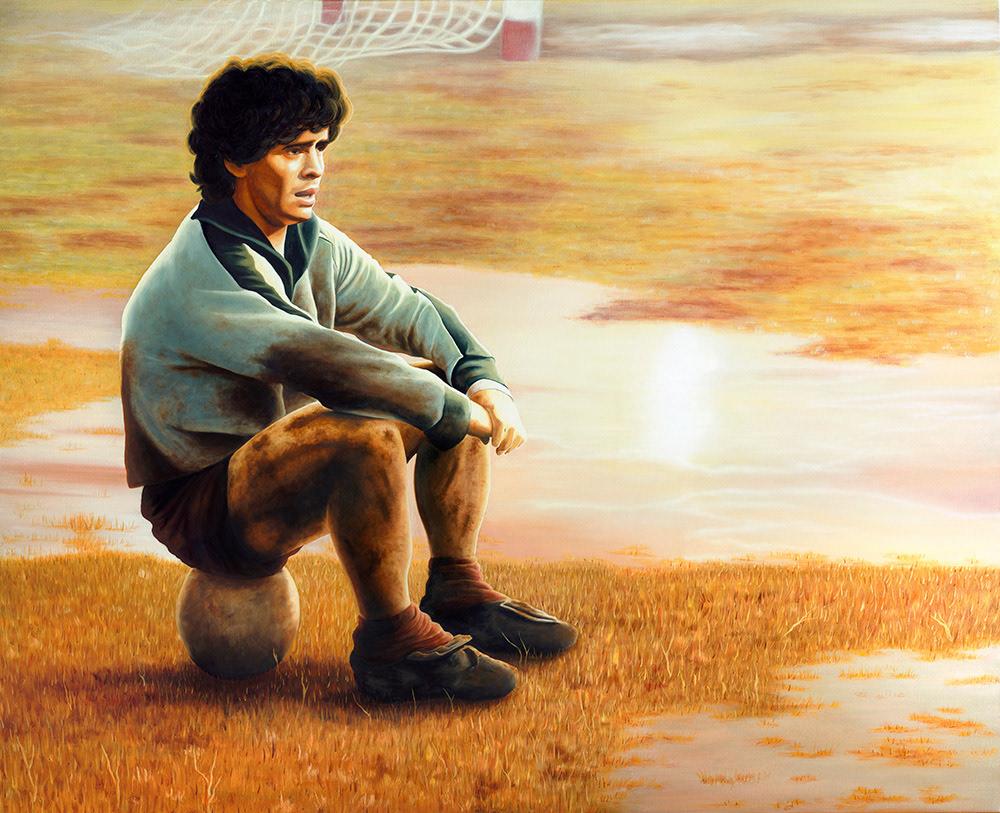 art artwork D10S Diego Maradona maradona maradona art maradona football MARADONA ILLUSTRATION Oil Painting painting