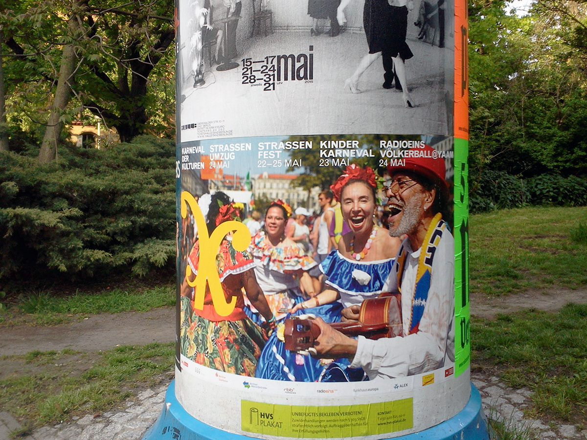 Campaign for Streetfestival karneval der kulturen berlin poster flyer Calender identity campaign streetfestival