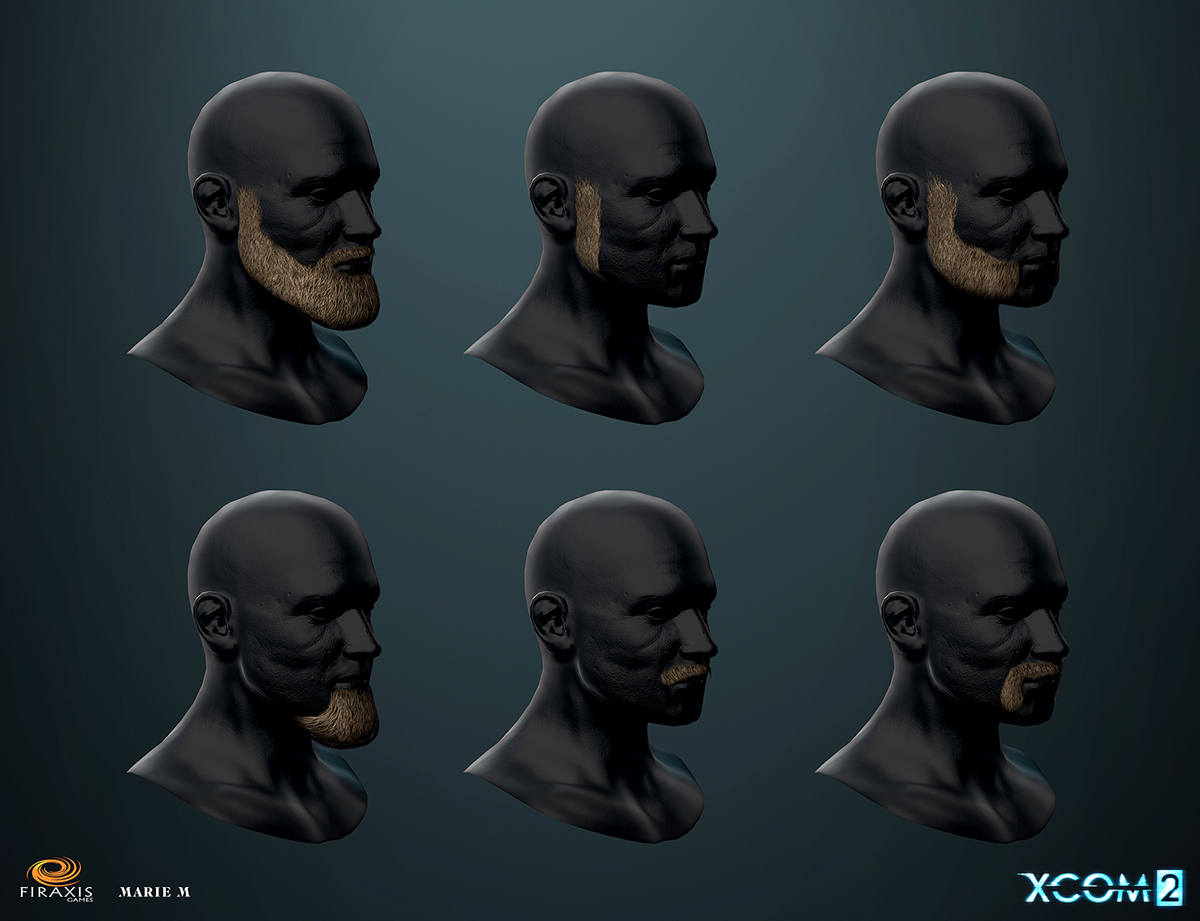 XCOM 2 Heads Beards And Hair On Behance